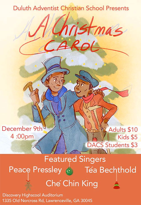 Duluth Christmas Carol 2020 Duluth Adventist Christian School presents A Christmas Carol